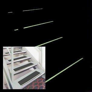 Unbekannt 8Treppenstufen-Schutz, Rutschfest, leuchten im Dunkeln