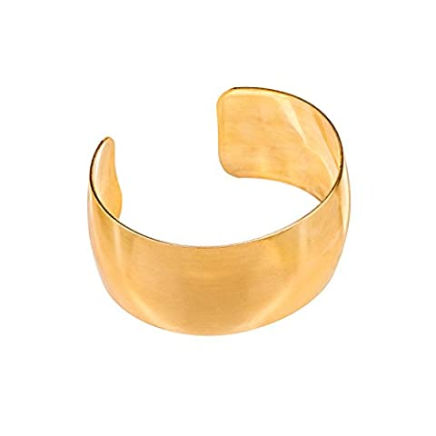 Blank Domed Cuff Brass Bracelet 1 Inch Wide (Pack of 1)