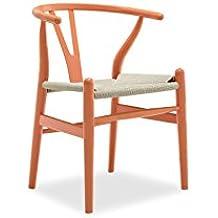 Sessel Stuhl Replik CH24 Y Chair Wishbone Hans Wegner Designer Vetrostyle  Hellbraun