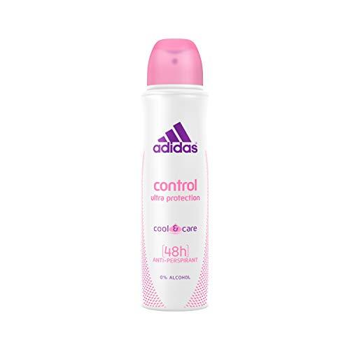 adidas Control Cool & Care Deospray für Damen - Antitranspirant Deo hält den ganzen Tag frisch & ist sanft zur Haut - pH-hautfreundlich - 1 x 150 ml