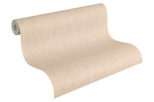 A.S. Création Satintapete Simply White 4 Tapete 10,05 m x 0,53 m creme Made in Germany 876614 8766-14