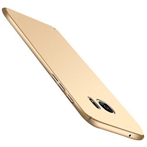 Qissy Carcasa Compatible with Samsung Galaxy S7, Ultra Ligero Suave Sedoso Pintura PC Funda Protectora de teléfono Protective Case Cover para Samsung Galaxy S7 5.1'' (Oro)