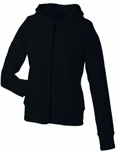 James & Nicholson Damen Sweatshirt Hooded black