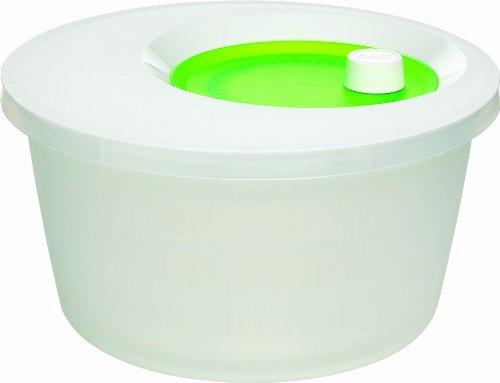Emsa 516947 Salatschleuder mit Kurbel, 4 Liter, Grün/Weiß, Basic