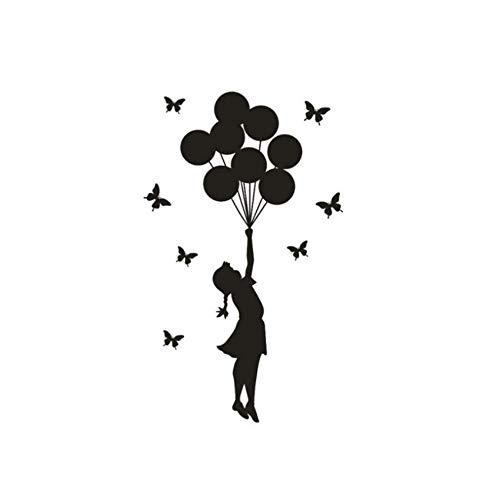60X35cm Der Ballon Mädchen Brief Wandaufkleber Für Kinderzimmer Mädchen Dekor Wohnzimmer Adesivos De Parede Pegatinas De Pared Wandaufkleber - X Ballon Brief