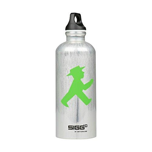 AMPELMANN Wasserträger SIGG Trinkflasche 0,6 Liter Silber
