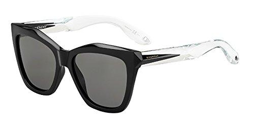 Givenchy gv 7008/s y1 am3, occhiali da sole donna, nero (black crystal/grey), 53