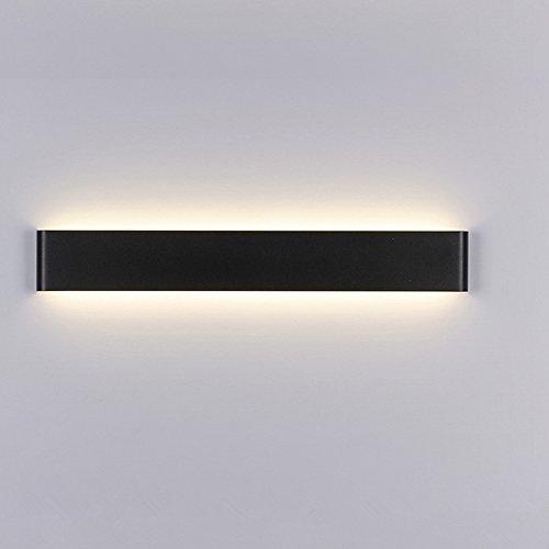 14W Miroir Applique couloir lampe Bain Lampe miroir lampe couloir lumière lampe luminaire salle de bain blanc chaud lampe murale lampe armoire 240mm inoxydable Noir étanche