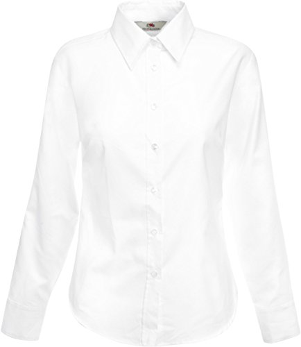 Fruit of the loom oxford chemisier à manches longues 65–002–0 Blanc - Blanc