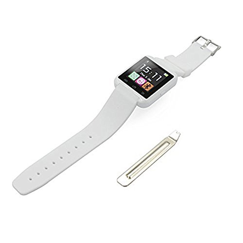 Premsons Smart Watch Best U8 Bluetooth Authentic U Watch Silicon Wristband (White) for Android & iOS Mobile