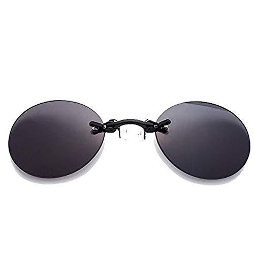 SZFREE Vintage Metal Sunglasses Black runde hd Lens randlose Brille Mini komfortable nasenpolster Sonnenbrille