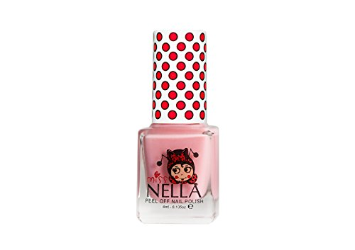 Miss Nella Cheeky Bunny Special Pink Glittery Nail Polish for Kids with Peel-off Water Based Formula by MissNella (Einfach Bunny Make-up)