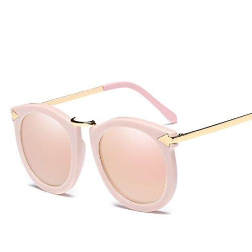 WKAIJC Lady Mode Metall Pfeil Persönlichkeit Komfortabel Große Kiste Jurte Polarisierte Sonnenbrillen Sonnenbrillen,A
