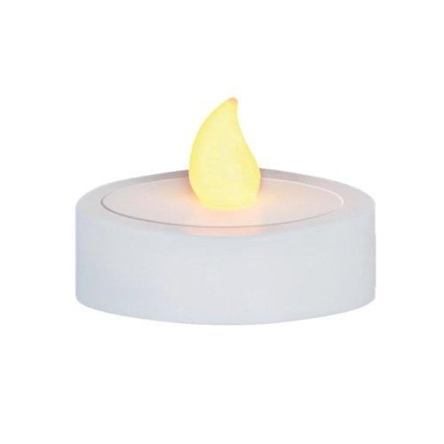VISCIO Trading 178981Teelichter LED Jumbo, Weiß, 2Einheiten