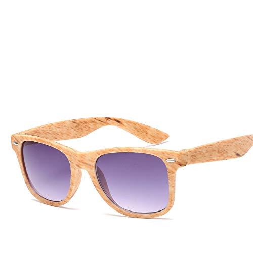 ZHOUYF Gafas de Sol De Bambú Unisex