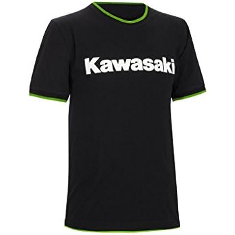 Kawasaki Camiseta de manga corta. Kawasaki Racing. Negro Verde Blanco gr.xl/xxl de bikerworld