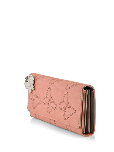 Butterflies Women's Wallet (Peach) (BNS 2383PCH)