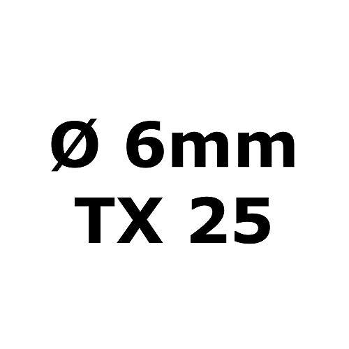 die beste edelstahl torx senkkopf schraube aus v2a 6 mm stark 100 mm schrauben l nge 200 st ck. Black Bedroom Furniture Sets. Home Design Ideas