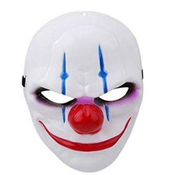 Li_unmio Halloween-Maske Geisterauftritte Vollkunststoffmaske, Party-Kostüm, Kleid, Purge Masken (Purge Kostüm Kleid)