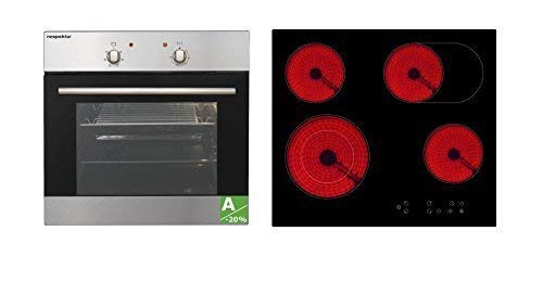 respekta Einbau Herdset Backofen Set autark 6 Funktionen steckerfertig Ceran Touch-Sensor Mega Set 5AN 5500