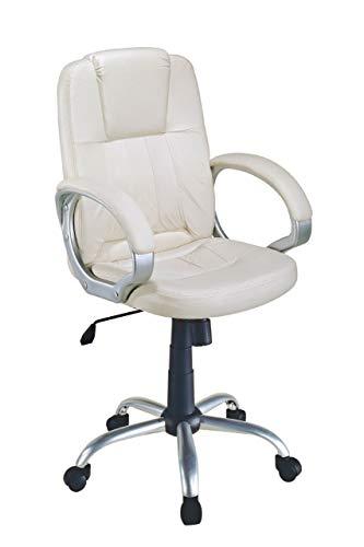 EUROSILLA Standford Chefsessel Schreibtisch, 112x 55x 60cm, weiß -