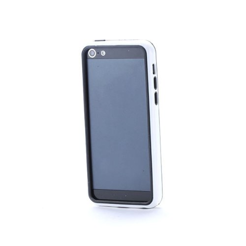 G4GADGET® Iphone 4S/4 Silicon Bumper White/Green 5CWhite/Black
