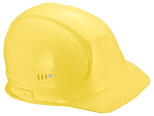 Uvex Superboss Schutzhelm - Belüfteter Arbeitshelm für die Baustelle - Gelb Gelb