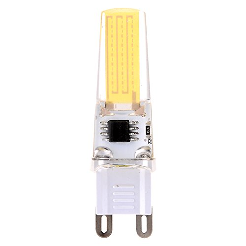 SDDMALL Dimmable 3W G9 2508 COB 200-300 Lm CA 220-240 V / AC 110-130 V Blanco caliente de la luz blanca fresca de la decoración (5PCS) ( Color : Warm White , Size : 110-130V )