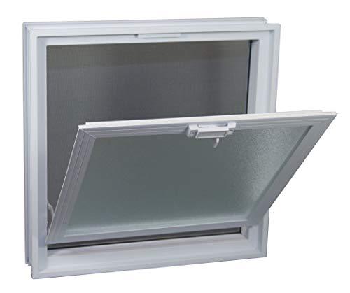Finestra di ventilazione per l'installazione in un muro di blocchi di vetro - anziché 4 bicchiere blocco 19x19x8 cm