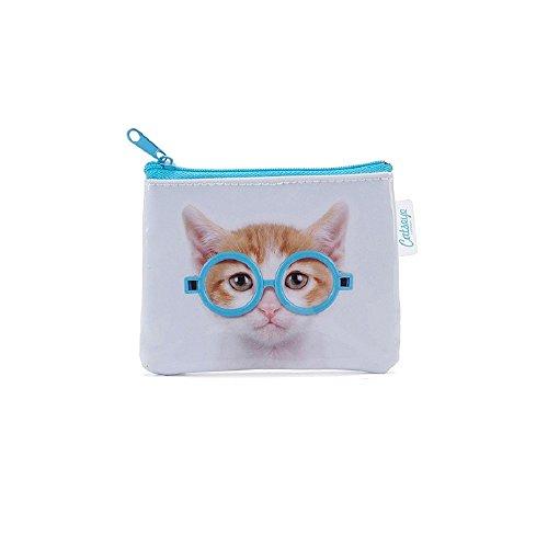Catseye trousse de toilette / porte-monnaie 'chat lunettes'