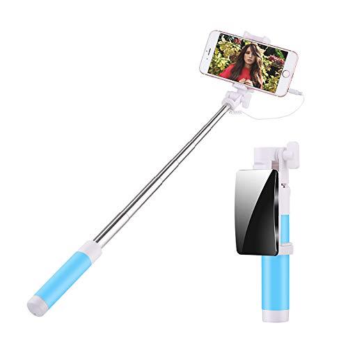 ZZuffig Mini Selfie-Stick mit 360-Grad-drehbaren Haltern für iPhones und Android-Handys (blau), EIN Handy und Kommunikation
