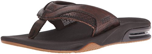 Reef Herren Leather Fanning Lux Sandalen Braun (Vintage Brown)