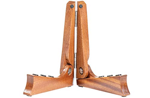 Ruach PS-1 Foldable Wooden Pocket Guitar Stand - Handmade from Mahogany
