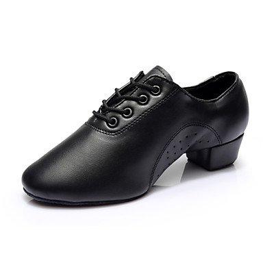 Scarpe da ballo - Non personalizzabile - Uomo - Latinoamericano / Salsa - Tacco spesso - Eco-pelle - Nero Black