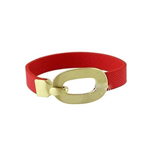 GYJUN European And American Fashion Joker Contracted Bracelet , ruby
