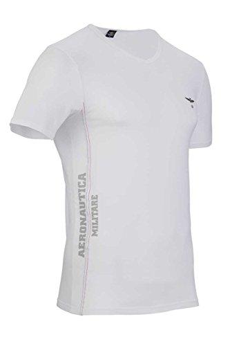 Aeronautica Militare Herren Shirt T-Shirt MATTEO MELANGE GREY1