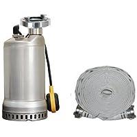 Profi Hochwasserpumpe Schmutzwasserpumpe 325L/min Flachsaugerpumpe 2mm und C-Schlauch