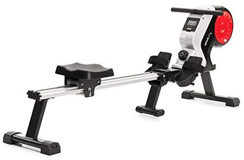 SportPlus Rudergerät für zu Hause, klappbar, leises Magnetbremssystem, kugelgelagerter Rudersitz, brustgurtkompatibel, Trainingscomputer, Nutzergewicht bis 150 kg, Sicherheit geprüft