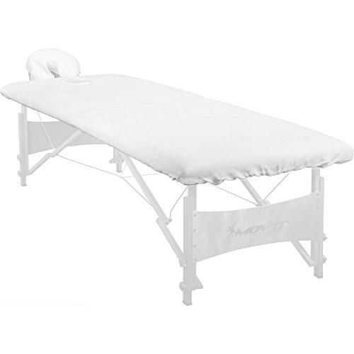 Baumwolle Schonbezug Kopfteil (Spannbezug für Massageliege und Kopfstütze, 100% Baumwolle, waschbar bis 60°, bügelbar, Farbe: weiß)