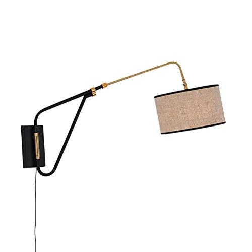 Apliques de Pared de cabecera del Dormitorio Moderna con Interruptor y Cable...