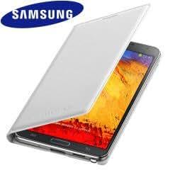 Samsung Galaxy E5 Wallet Flip Cover (White)