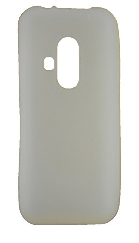 FCS Matte Finish Rubberized Silicone Back Case Cover for Nokia 220 Dual Sim (White)  available at amazon for Rs.225