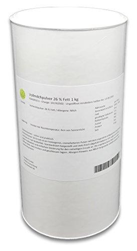 Vollmilchpulver 26 % Fett 1 kg Trockenmilch Vorratsdose Milchpulver Vollmilch getrocknet