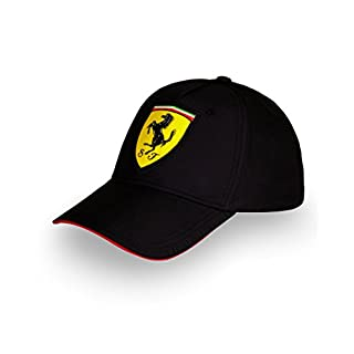 New für 2016. Scuderia Ferrari Kids/Neueinsteiger Klassische Kappe–Schwarz