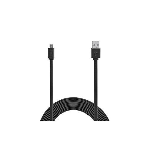 Aiino Samsung Micro USB a USB cavo dati per ricarica e sincronizzazione 1,5m Flat, Rosso Nero