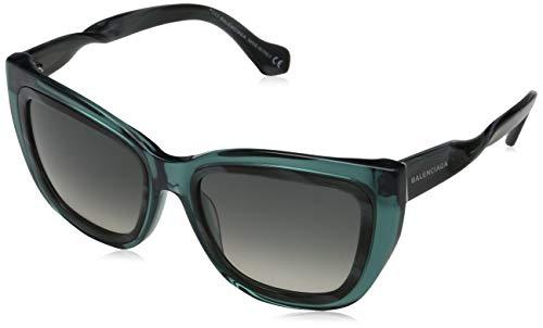 Balenciaga Damen Sunglasses Ba0027 89B-55-19-140 Sonnenbrille, Blau, 55