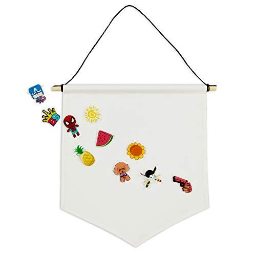 QSUM Anstecker Display Wimpel Banner Leere Leinwand Wand Banner Pin Abzeichen Flagge Enthalten 10 Stücke Nadel Als Freies Geschenk Für DIY Designs