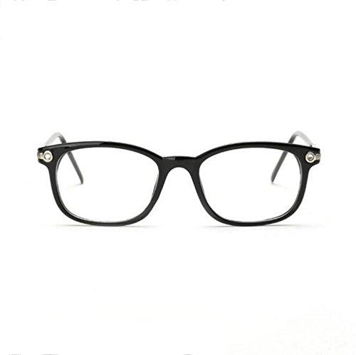 Z&YQ klar Linse Gläser Flieger Spiegel Myopie Rahmen Mode Brillen , bright black