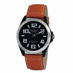 OMAX Analog Black Dial Mens Watch - SS139