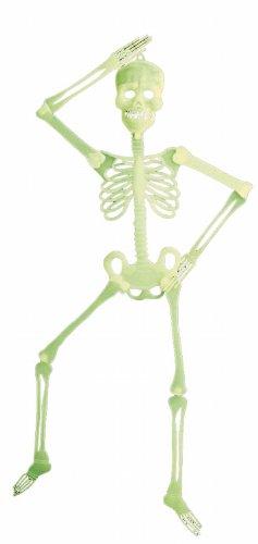 Widmann 5219W - Dekoskelett 3D, Circa 90 cm, fluoreszierend (Skelett Für Halloween)